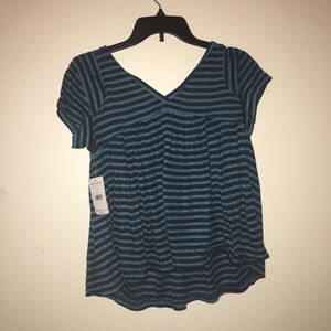 Free people NWT blue and green blouse